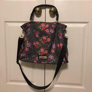 Betsey Johnson crossbody bag black Roses Floral 🌹